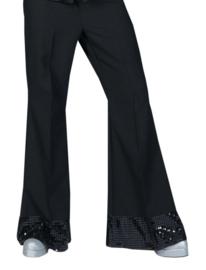 Disco broek glitter zwart