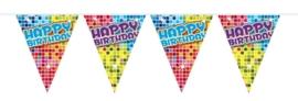 Mini vlaggenlijn happy birthday