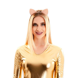 Diadeem kattenoortjes glitter (18x15cm)