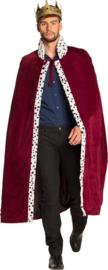 Koningsmantel bordeaux rood | The king