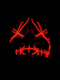 Neon light up masker rood