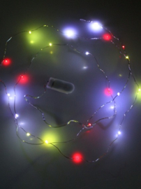 Ledverlichting snoer rood/geel/ wit 2 mtr