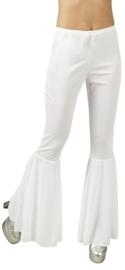 Disco broek wijde pijpen wit