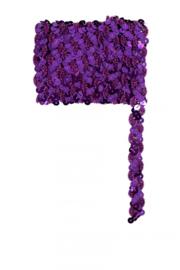 Paillettenband golvend paars 3m