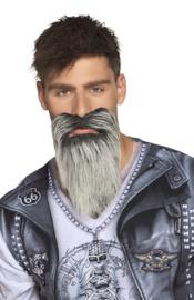 Baard rider grijs