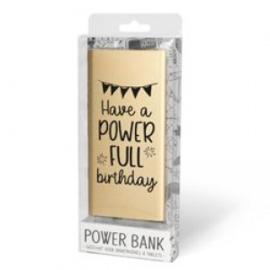 Powerbank Verjaardag