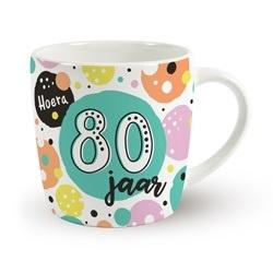 Verjaardags mok - 80 jaar  | koffie beker