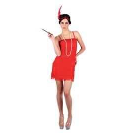 Charleston jurkje 20's rood
