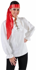 Piraten blouse dames creme