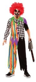 Sinister clown kostuum jongen