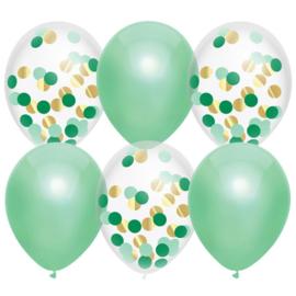 Ballonnen mint mix 6 stuks