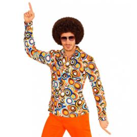 Groovy 70's  heren shirt cirkels
