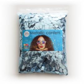 Confetti metallic rond 10mm 250 gram baby blauw