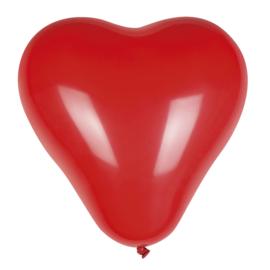 Harten ballonnen Rood