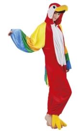 Papegaai kostuum plushe