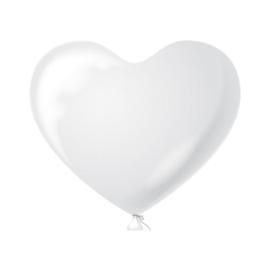 Hartenballonnen wit 100 st.