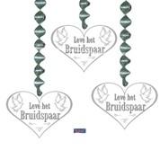 Hangdecoratie Leve Het Bruidspaar - 3 stuks