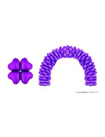 Folieballon paars hart voor boog 10 stuks