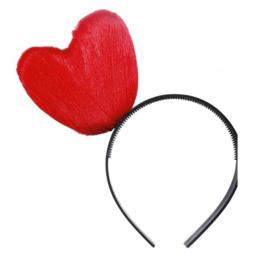 Diadeem hart  rood