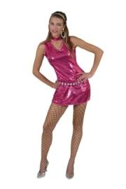 Disco jurkje / tuniek fuchsia