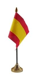 Tafelvlag Spanje zwart