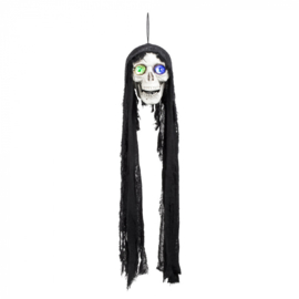 Decoratie Flashing skull (85 cm)