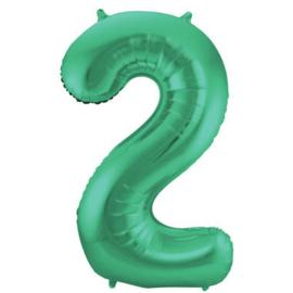 Folieballon 2 mat groen