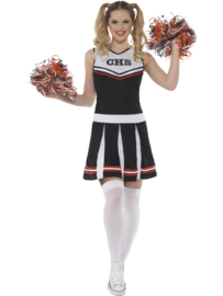 Cheerleader zwart wit