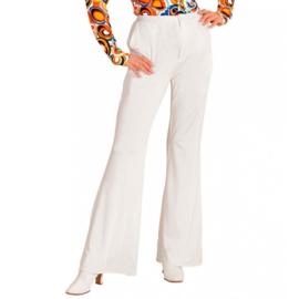 Groovy 70's  dames broek wit