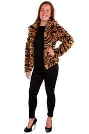 Bontjas tijger print