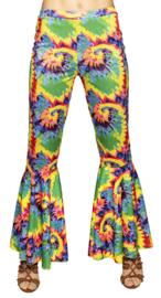 Hippie broek wijde pijpen peace