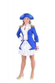 Garde officier mantel blauw OP=OP
