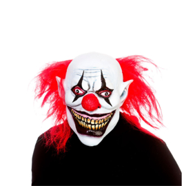 Latex masker - Full Head Big Mouth Killer Clown