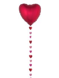Ballon lint hartjes rood