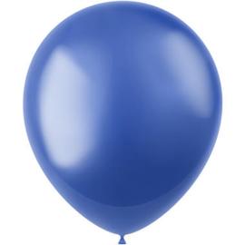 Ballonnen Radiant Royal Blue Metallic 33cm - 50 stuks