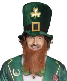 Hoed Leprauchon met baard St. Patricks day