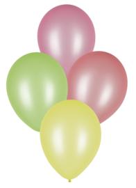 Ballonnen neon - assorti kleuren - 8 stuks