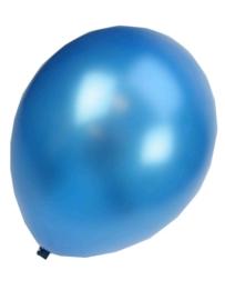 Kwaliteitsballon metallic donkerblauw 10 stuks
