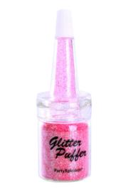 Glitter puffer rainbow pink