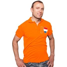 T-shirt oranje modern OP=OP