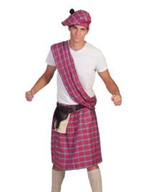 Schotse highlander kostuum pink