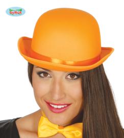Bol hoed satijn oranje