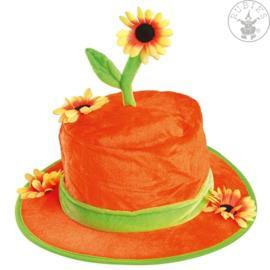 Zonnebloemen hoed | Clownshoed