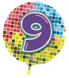 9 jaar folieballon blocks excl.