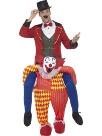 Gedragen clown jester kostuum