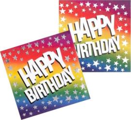 Papieren servetten 'Happy Birthday'