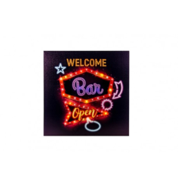 WELCOME BAR 25 LED LICHTBORD 40X40X2.8CM