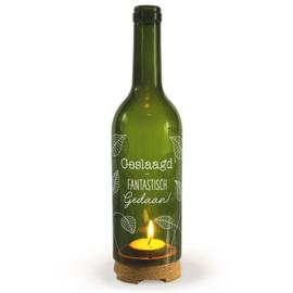 Wine Candle - Geslaagd | Wijnfles decoratie