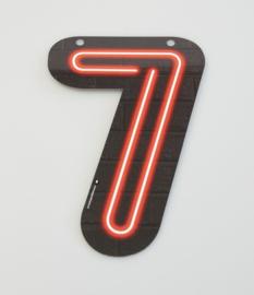 Neon cijfer 7