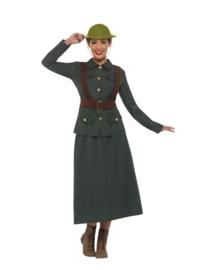 WW2 army lady kostuum